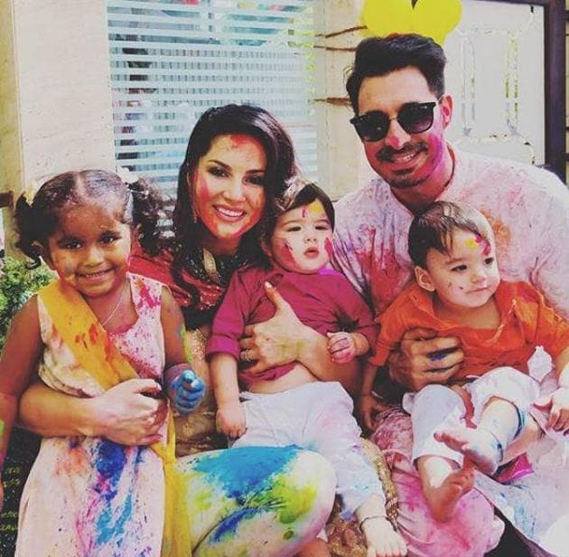On Sunny Leone's birthday, check out her best photos with husband and kids.