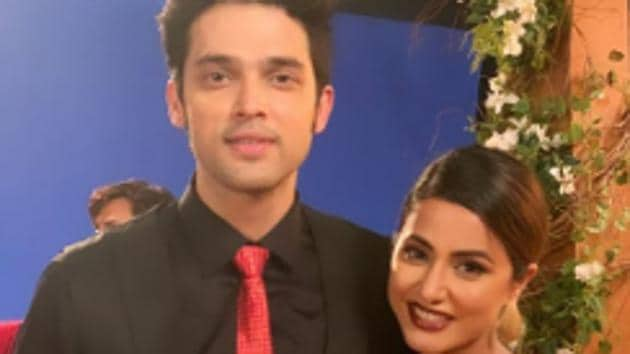 Hina Khan and Parth Samthaan post for pictures.(Instagram)