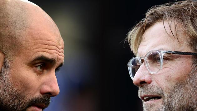 The battle between Klopp and Guardiola went down to the final day.(Getty Images)