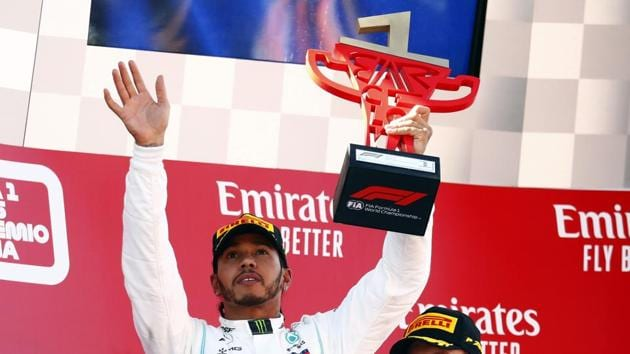 First placed Mercedes' Lewis Hamilton(REUTERS)