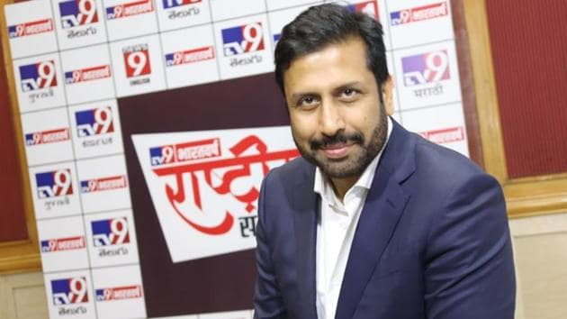 Ravi Prakash said a group of investors headed by MEIL signed an agreement in August 2018 with the promoters of TV9 to acquire a majority stake in ABCL through Alanda Media.(D Ravinder Reddy/HTPhoto)