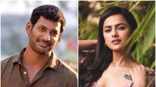Vishal and Shraddha Srinath will be the lead pair in Irumbuthirai sequel.(Instagram)