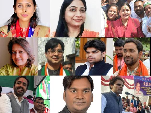First row(L-R): Poorvi Verma, Sanghmitra Maurya, Dolly Sharma, Second row(L-R): Supriya Shrinate, Tanuj Punia, Akshay Yadav, Jayant Chaudhary, Third row(L-R): Dinesh Lal 'Nirahua', Kamlesh Katheria, Ritesh Pandey.