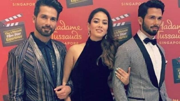 Shahid Kapoor and Mira Rajput were in?Singapore for the inauguration of his wax model at Madame Tussauds.(Instagram)