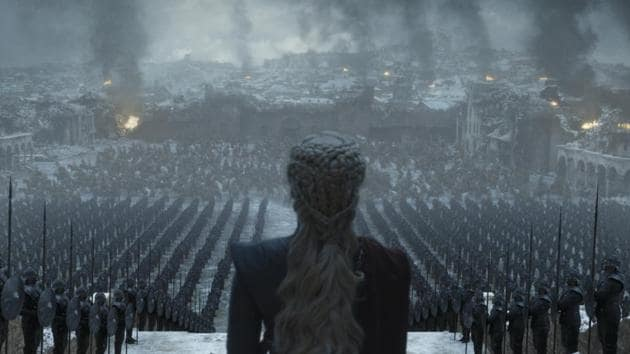 Emilia Clarke as Daenerys Targaryen in a still from the Game of Thrones finale.