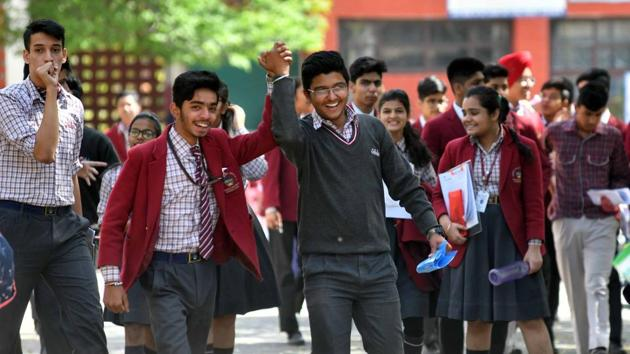 Around 4 lakh candidates had appeared in the Class 10 exams that were conducted from March 8 to 30, 2019. The result will be uploaded on the official website, bseh.org.in.(HT file)