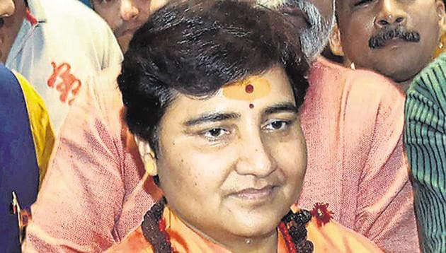 Pragya Singh Thakur has blamed the media for twisting her comments on Nathuram Godse out of context.(PTI PHOTO)