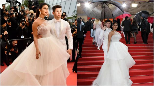 Priyanka Chopra, Nick Jonas at the Cannes Film Festival 2019.(AFP/Reuters)