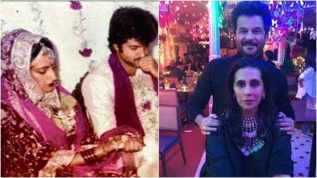 Anil Kapoor on wife Sunita are celebrating their 35th wedding anniversary today.(Instagram)