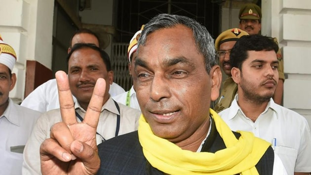 Rajbhar, who has considerable clout in eastern Uttar Pradesh, asserted that his party has not campaigned for the saffron party in these elections.(HT Photo)