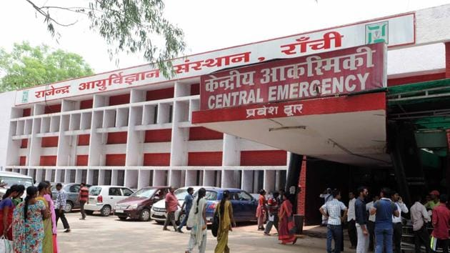 The Latehar-based victim was referred to RIMS in January and she remained under treatment till March 27. The discharge slip, however, didn't declare her fit.(HT FIle Photo)