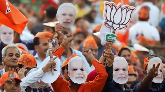In 2019, the election was very clearly posited as one between those who wanted Modi as prime minister and those who did not want Modi(Bloomberg)