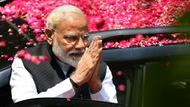 NaMo TV, a channel on the air since March 31 that exclusively featured Prime Minister Narendra Modi's past speeches and content related to the ruling Bhartiya Janata Party (BJP) went off the airwaves on May 17(AFP)