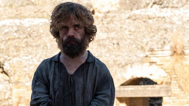 Peter Dinklage as Tyrion Lannister in the final episode of Game of Thrones.