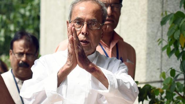 Former President Pranab Mukherjee(Amal KS/HT PHOTO)