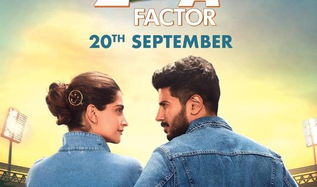 Sonam Kapoor and Dulquer Salmaan in the latest poster of their film, The Zoya Factor.