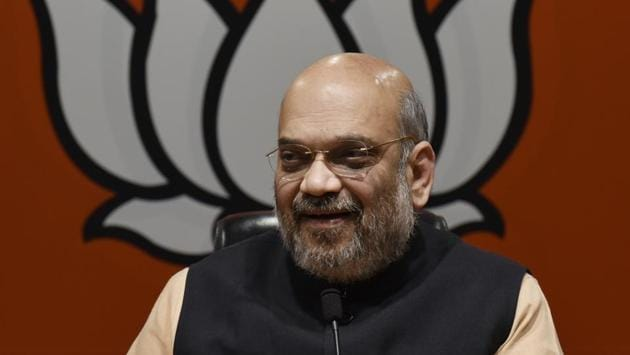 """In a series of tweets, Shah said this victory is a """"win of people's confidence in Prime Minister Narendra Modi"""".(Vipin Kumar/HT PHOTO)"""