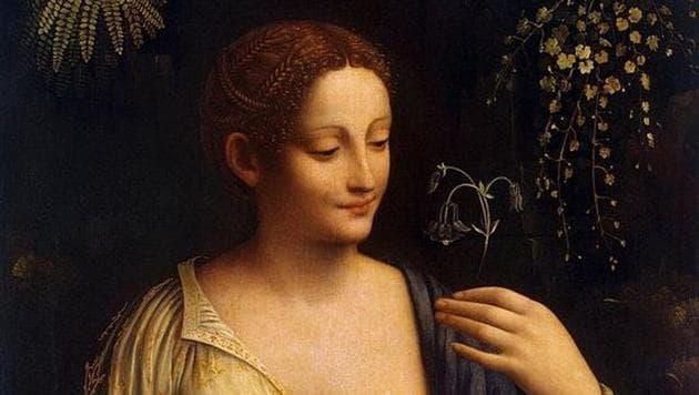 Painting by Leonardo da Vinci's favourite pupil Francesco Melzi on display in L...