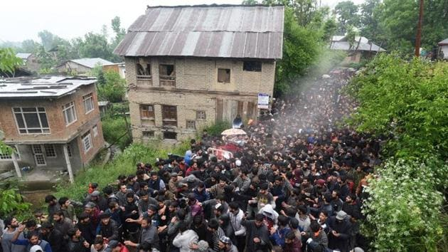 Restrictions were imposed in several parts of Srinagar while the administration closed schools and colleges to prevent a 2016-like situation.(HT Photo)
