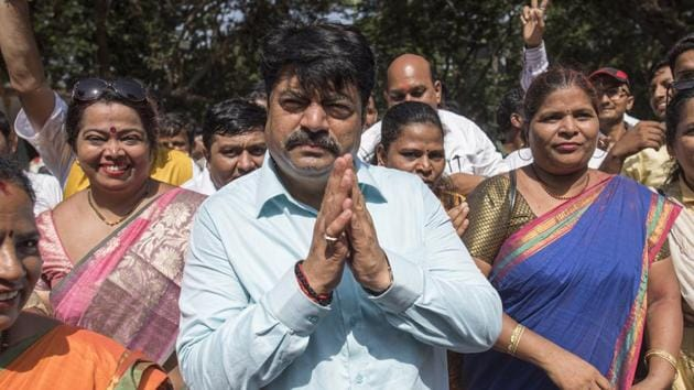 A three-time corporator from Mulund, the BJP's Manoj Kotak, defeated NCP's Sanjay Dina Patil by 2.26 lakh votes. Of the 9.08 lakh votes polled in the constituency, Kotak got 5.14 lakh votes (56.61%).(Satish Bate/HT Photo)