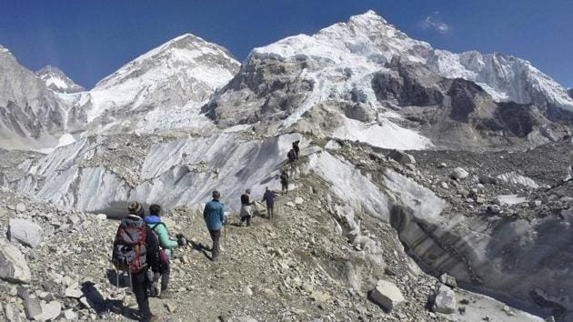 The government issued a record number of 381 climbing permits to the mountaineers representing 44 teams this spring season.(AP File Photo)