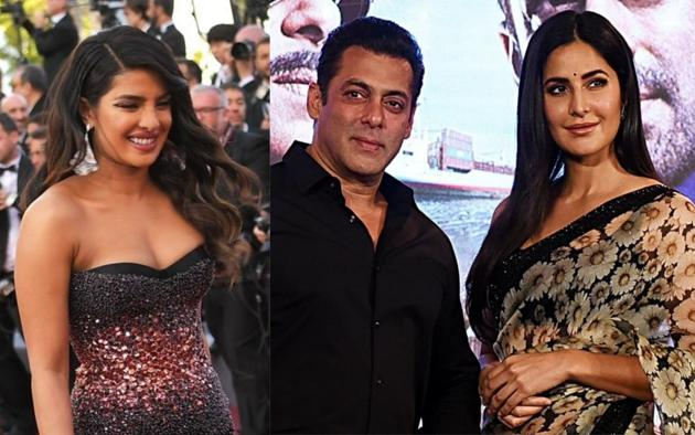 Salman Khan has suggested Priyanka Chopra to join them in Bharat promotions as she had loved the script.(AFP)