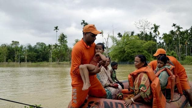 The State Emergency Operations Centre (SEOC) in a report said, out of the 739 people, who are sheltered in various relief camps, 358 people are from Unakoti district and 381 from North Tripura district(PTI)