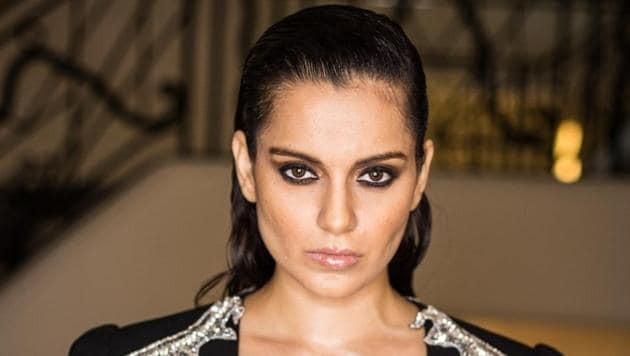 Kangana Ranaut in a Nedret Taciroglu outfit at Cannes.(Instagram/team_kangana_ranaut)