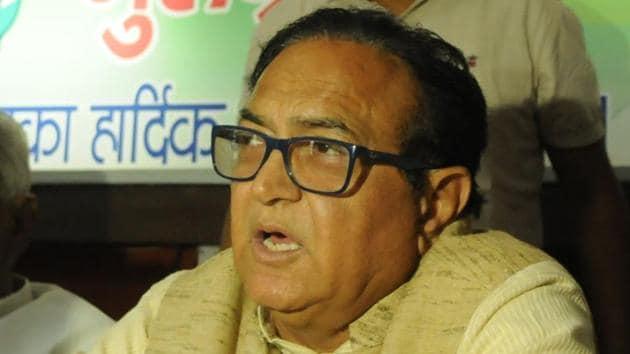 Senior Congress leader Ajay Yadav(Parveen Kumar/Hindustan Times)