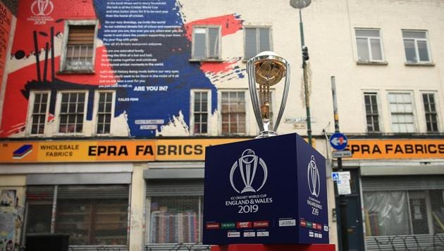 The ICC Cricket World Cup trophy on display(Getty Images for CWC19)
