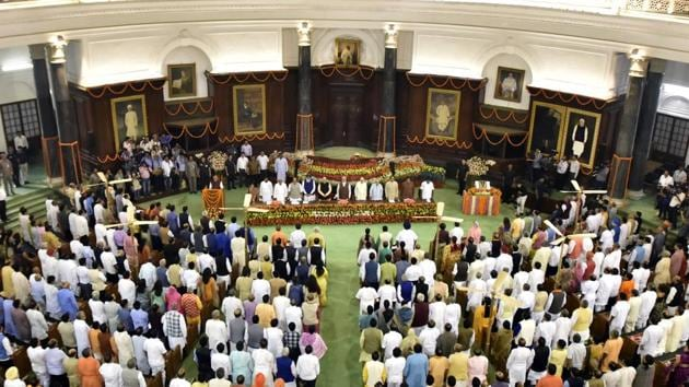 The 17th Lok Sabha's first session is likely to start from June 6 and go on till June 15.(HT PHOTO)
