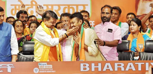 Subhranshu Roy was expelled on May 24, just a day after Lok Sabha election result was announced, for making anti-party comments by praising his father Mukul Roy. (Raj K Raj/HT Photo)