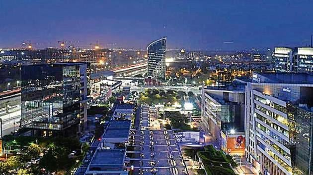 The report states that Gurugram has an office stock of 60million sqft, second highest in India after Bengaluru (155million sqft).(HT Photo)