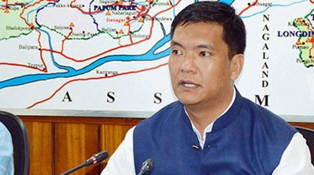 Six days after securing the first electoral victory for the Bharatiya Janata Party in Arunachal Pradesh in the assembly polls, Pema Khandu took oath as the northeastern state's chief minister on Wednesday.