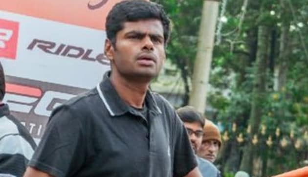 Annamalai said he was not quitting the job because of any political pressure.(Twitter/ Annamalai_K)
