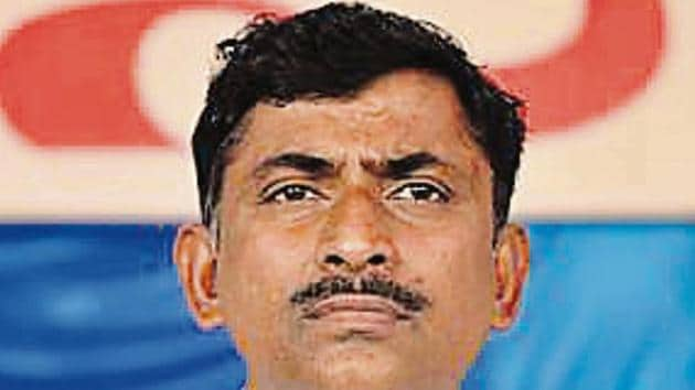 Seen here is Muralidhar Rao, National General Secretary of Bhartiya Janta Party.((Photo by Arijit Sen/Hindustan Times))
