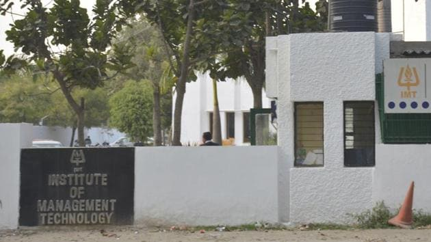 IMT officials said the institute has about 1400 students and a hostel facility on the campus has also come up on the land in question.(HT File Photo)