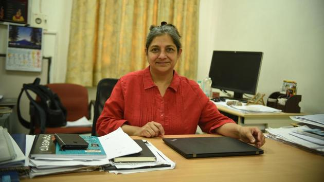 Sudheshna Sinha is a professor at the department of physical sciences at the Indian Institutes of Science Education and Research, Mohali, since 2009.(HT Photo)