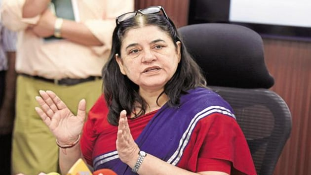 Gandhi is the outgoing Union Minister for Women and Child Development.(HT Photo)