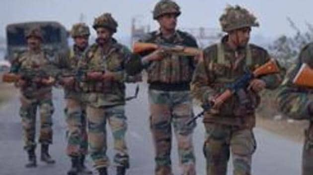 A group of youths clashed with security forces near a gunfight site at Pinjoora in Shopian. A joint team of police and army had launched a cordon and search operation in Pinjoora on a specific information about the presence of militants there. As the forces were busy in the operation, the gunfight with militants holed up in the village began.(AFP FILE Photo)