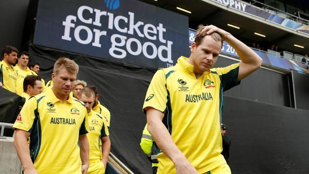 FILE PHOTO: Britain Cricket - England v Australia - 2017 ICC Champions Trophy Group A - Edgbaston - June 10, 2017 Australia's David Warner and Steve Smith before the match Action Images via Reuters / Andrew Boyers Livepic EDITORIAL USE ONLY./File Photo(REUTERS)