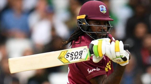 Chris Gayle in action during the ICC World Cup 2019 encounter against Pakistan.(AFP)