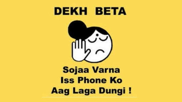 Dedicated to parents who want to set their teenager's phone on fire