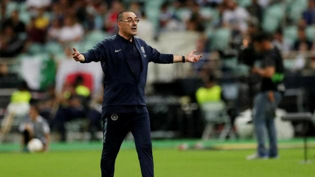 Chelsea manager Maurizio Sarri reacts(REUTERS)