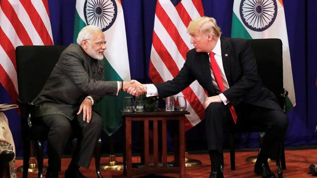 M Narendra Modi with US President Donald Trump during a meeting in Manila in November 2017.(Reuters File Photo)