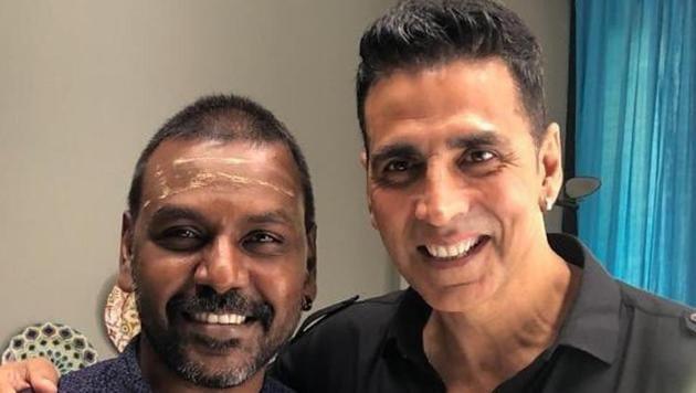 Raghava Lawrence and Akshay Kumar pose for a photograph.(Twitter)
