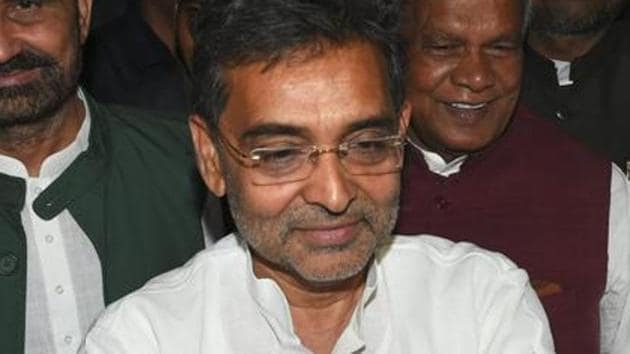 """Former BJP ally and Rashtriya Lok Samata Party chief Upendra Kushwaha Sunday cautioned the saffron party that Nitish Kumar will """"betray"""" it and it should be ready for """"Dhokha number 2"""" from the JD(U) president .(PTI Photo)"""