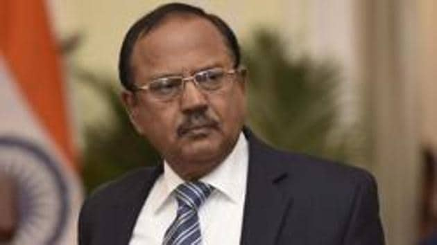 National Security Adviser Ajit Doval has been accorded the rank of a Cabinet minister(Vipin Kumar/HT PHOTO)