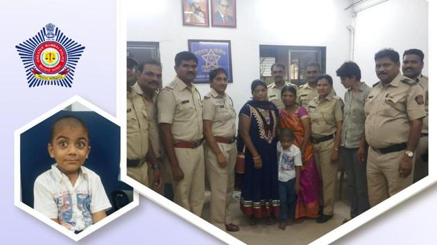 The police decided to take help of the social media and forwarded the child's photo to different Whatsapp groups.(Twitter/@MumbaiPolice)