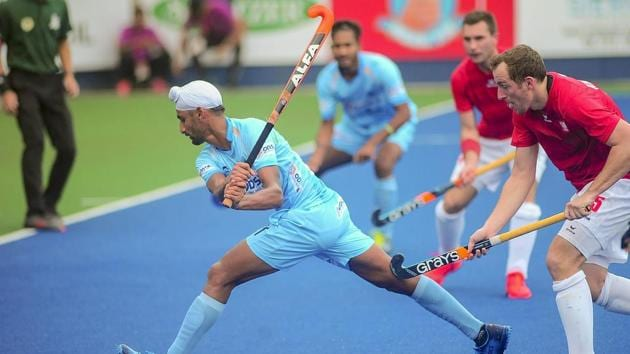 Ipoh: Indian hockey team member Mandeep Singh in action during their last round of Robin League match against Poland at the 28th Sultan Azlan Shah Cup 2019, in Ipoh Malaysia, Friday, March 29, 2019. India defeated Poland 10-0. (PTI Photo)(PTI)